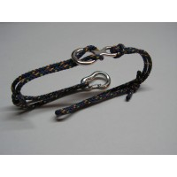 Climbing Bracelet with Figure Eight Belaying Device and Climbing Carabiner