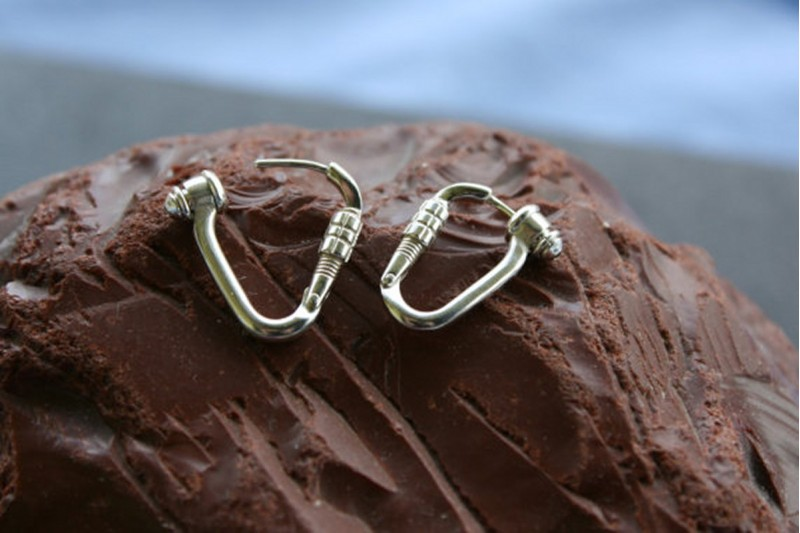 Climbing Locking Carabiner Earrings