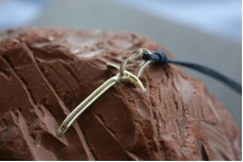 Necklace with Ice Axe and Fully Functional Climbing Carabiner