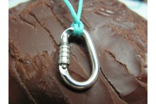 Functional Locking Carabiner Necklace