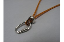 Climbing Locking Carabiner and Tube Belaying Device Necklace